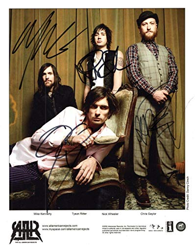 ALL-AMERICAN REJECTS HAND SIGNED 8x10 GROUP PHOTO+COA SIGNED BY ALL 4