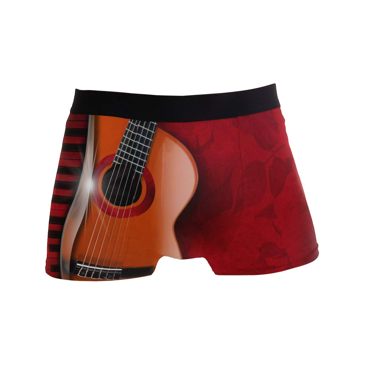 Music Guitar Piano Flower Short Underwear Soft Stretch Underpants for Men Boys S-XL BETTKEN Mens Boxer Briefs