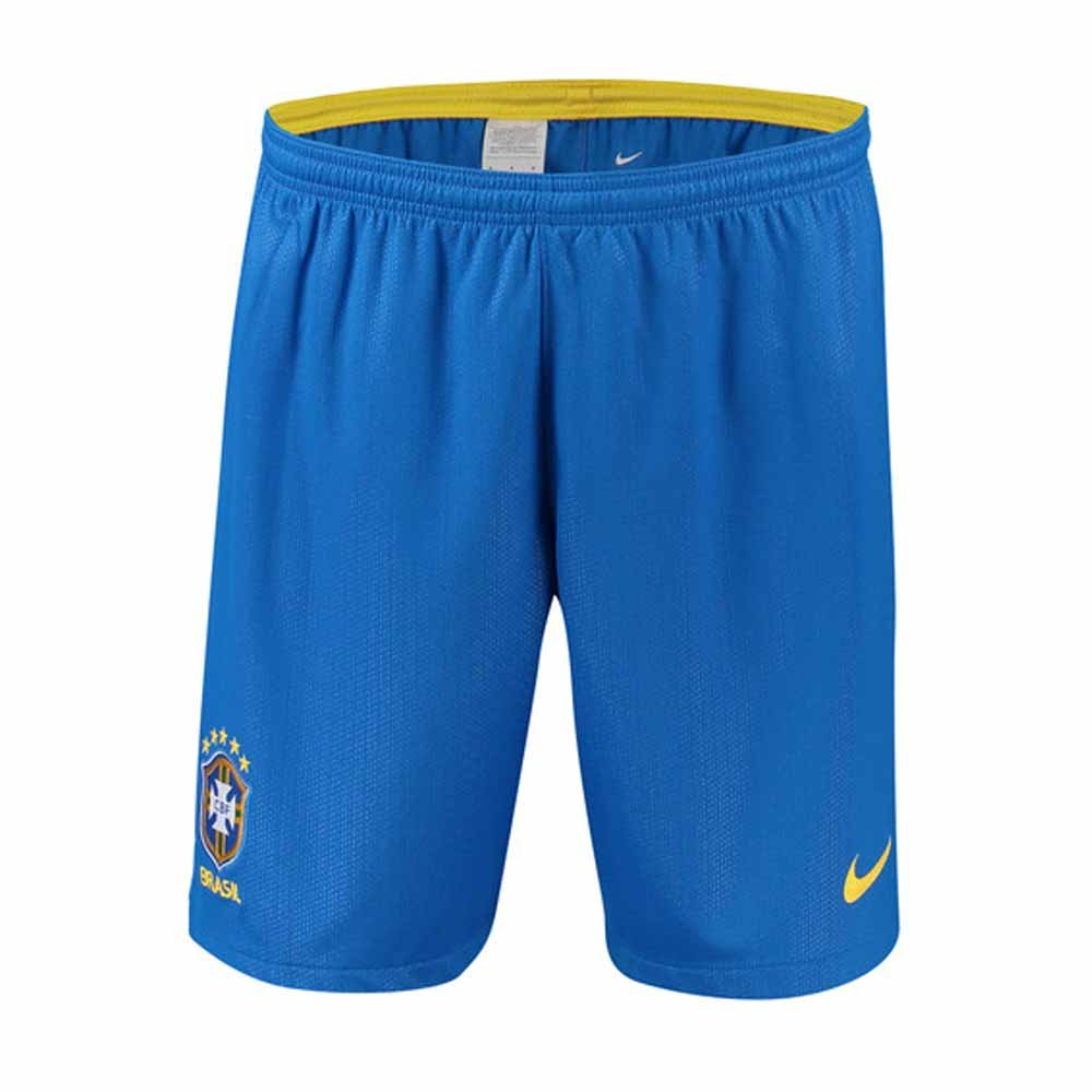 2018-2019 Brazil Nike Home Shorts (Blue) B07CBN34X7Blue L 34-36\