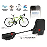 Toprime®Bluetooth Bike Speed Sensor and Cadence Sensor with APP for Many Iphone Devices,Black