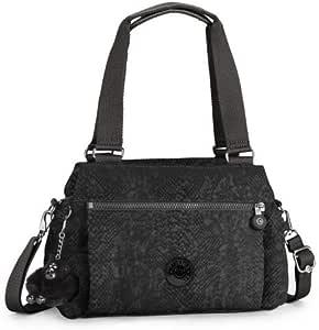 Kipling Orelie Black Snake Handbag