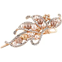 GreatFun Vintage Jewelry Crystal Hairpins Pearl Duckbill Clip Beauty Accessories for Fashion Women Girls