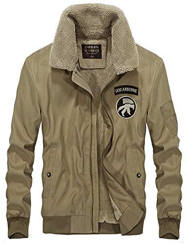 Thicken Mens YYZYY New Outwear Military Windbreaker Coat Warm Outdoor Jacket Windproof Lining Cashmere Khaki Winter 2018 Parka Collar SPRRxg