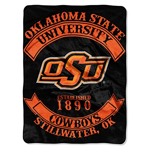 The Northwest Company Officially Licensed NCAA Oklahoma State Cowboys Rebel Plush Raschel Throw Blanket, 60