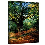 ArtWall Bodmer Oak at Fountainbleau Forest Gallery Wrapped Canvas by Claude Monet, 18 by 24-Inch