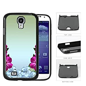 Flowers With Green Gradient Background Hard Plastic Snap On Cell Phone Case Samsung Galaxy S4 SIV I9500