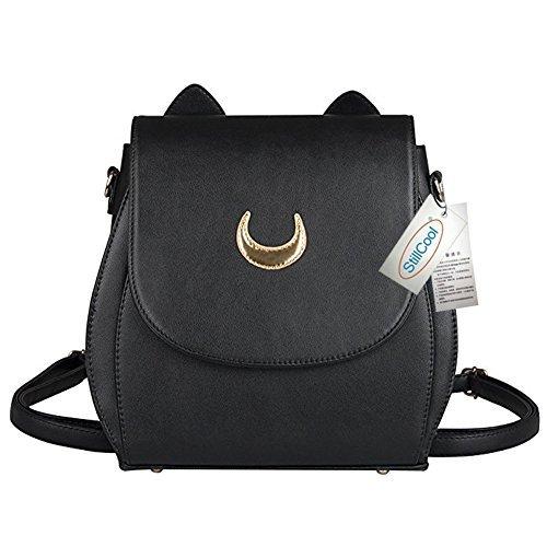 StillCool Cosplay Moon Backpack Bag Purse, PU Leather Cat Ear Shape, Fashion Women Girls Handbag Shoulder Bag Rucksack