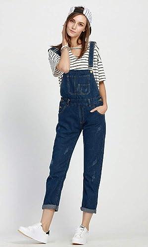 88164a89f713 Amazon.com  Sitmptol Women s Denim Bib Overall Distressed Cropped Long Jeans  Jumpsuit Romper 2XL Blue  Clothing