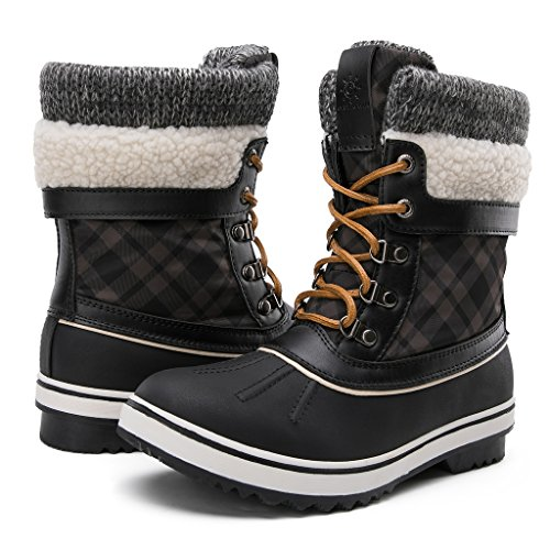 GLOBALWIN Women's Winter Snow Boots Black 8.5 D(M) US Women's