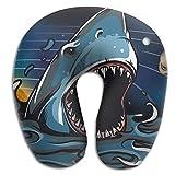 Memory Foam Neck Pillow Shark Comfy Soft U-Shape Cervical Pillow Head Support For Travel Office Sleeping