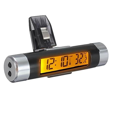 Shiwaki Termómetro Digital del Sensor De Temperatura del Reloj del Coche del LCD Color - Naranja