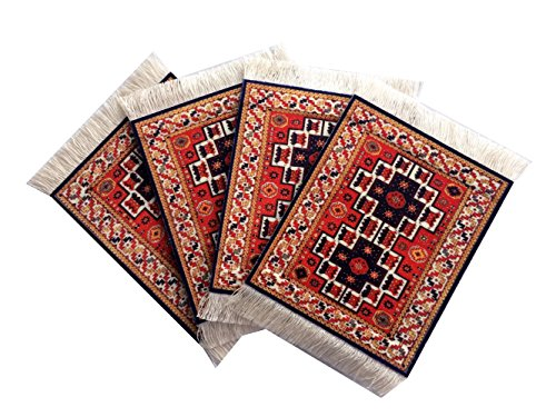 set rug table coasters persian design fabric carpet drink ma