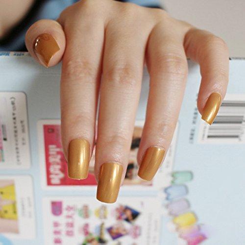 Amazon Com Uv Effect Light Pink False Nails Tip French Full Cover