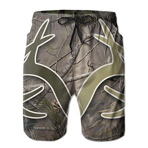 Realtree Camo Wallpapers Men Quick Dry Stripe Swim Trunks Mesh Lining Beach Shorts with Adjustable Pull Cord XX-Large (Lattice Stripe Wallpaper)