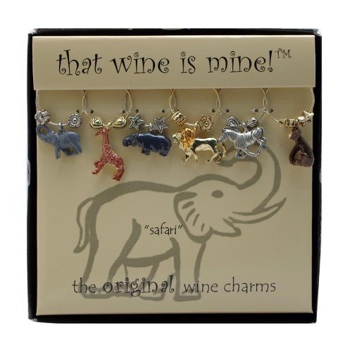 Painted Wine Glass Charms - 5