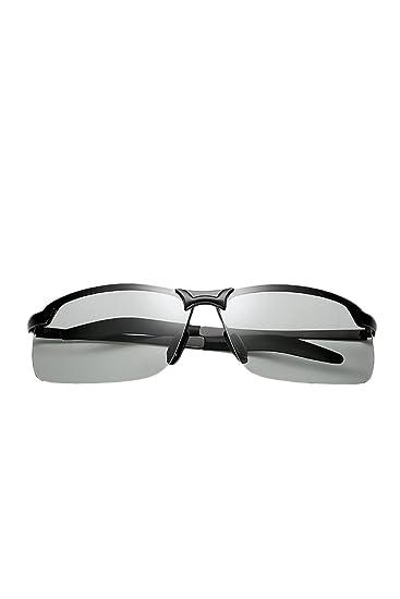 Hombres Gafas De Sol Polarizadas Lentes Cambian De Color Dia Noche Conduciendo: Amazon.es: Ropa y accesorios