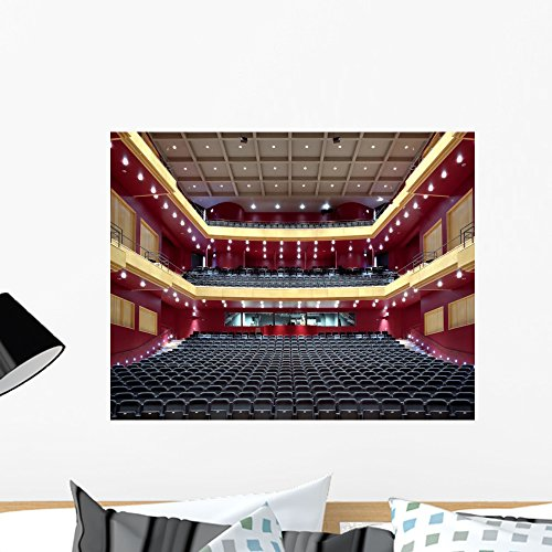 Wallmonkeys Empty Red Theater Seating Wall Mural Peel and Stick Graphic (24 in W x 19 in H) ()