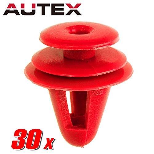 (PartsSquare 30pcs Fender Liner Fastener Rivet Push Clips Retainer Replacement for Chevrolet/Geo/Scion/Toyota)
