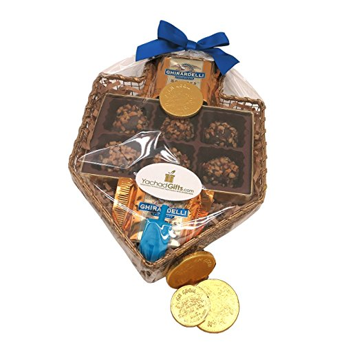A Chanukkah Dreidel Gift Basket of Chocolate (Crc Kosher)