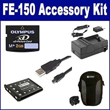 Amazon.com: Cámara digital Olympus FE-190 Kit de accesorios ...