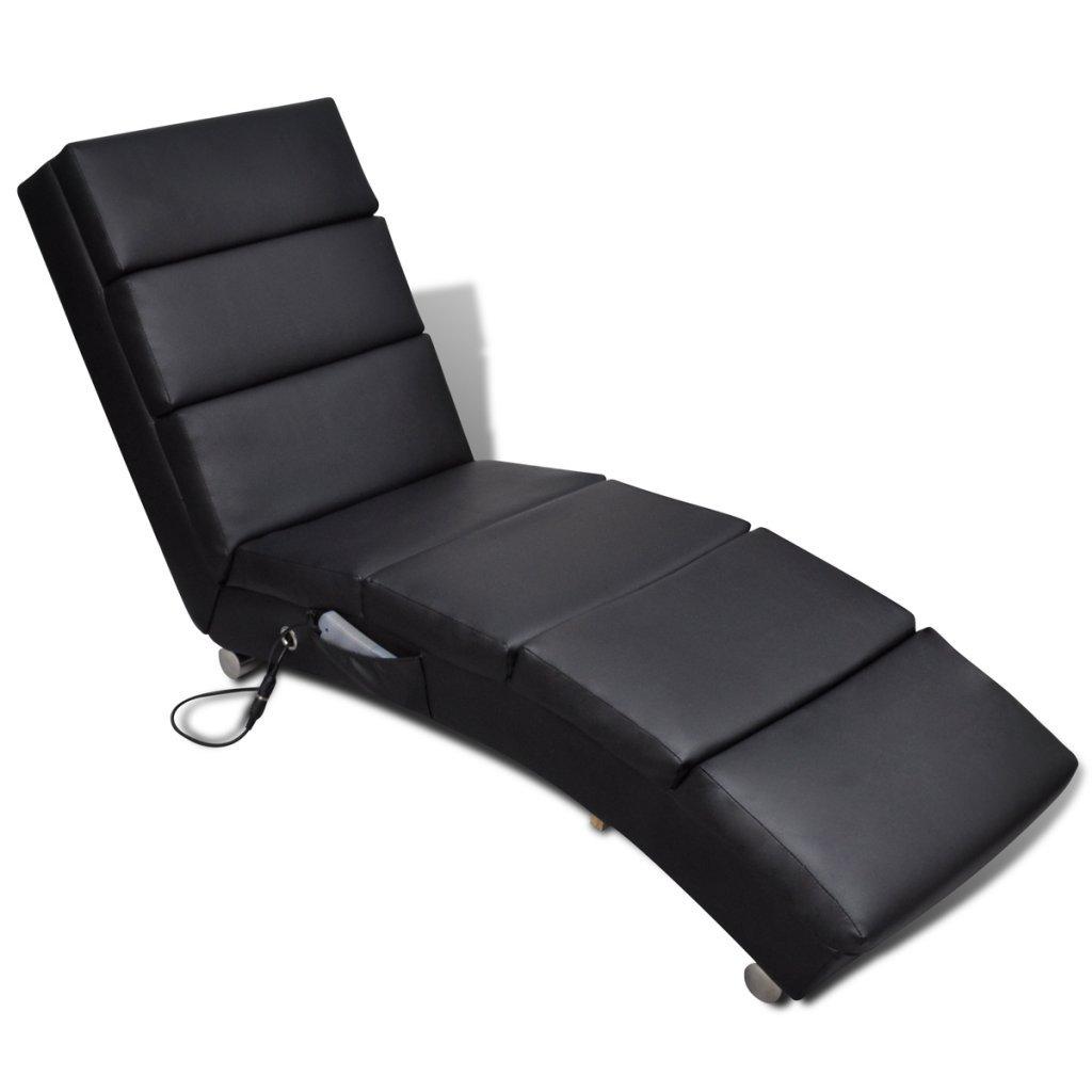 Anself Poltrona da Massaggio elettrica, Schienale funzionale, Nero