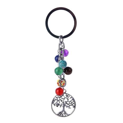 Dosige 1 Piezas Llavero de energía de siete chakras yoga ...
