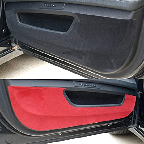 Premium Suede Door Entry Protect Anti Scratch Cover Accessories For Hyundai Veloster, Turbo 2012 2017