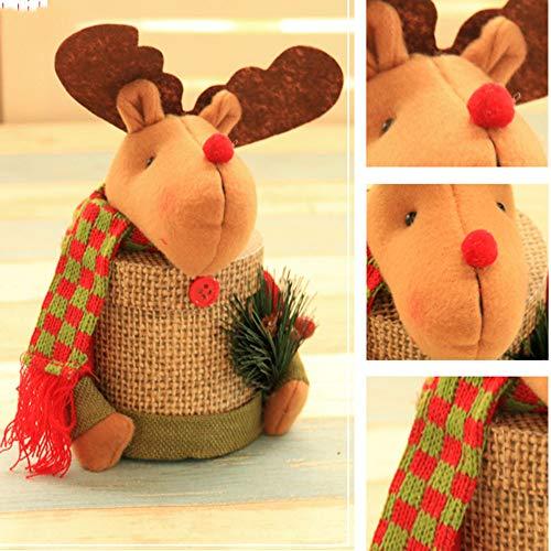 Storage Candy Jar, MatureGirl Clearance Sale! Child Kids Christmas Candy Jar Storage Bottle Santa Bag Sweet Christmas Box Gift Basket (C) by MatureGirl (Image #2)