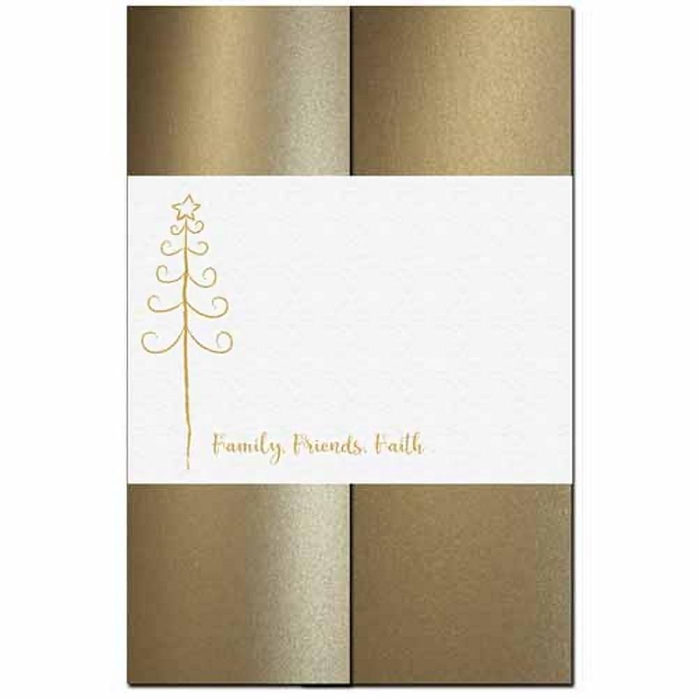 Family Friends Faith - Holiday Tree Invitation Kit - 80 Pack