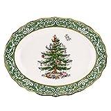 Spode Christmas Tree Embossed Platter, Large, Gold