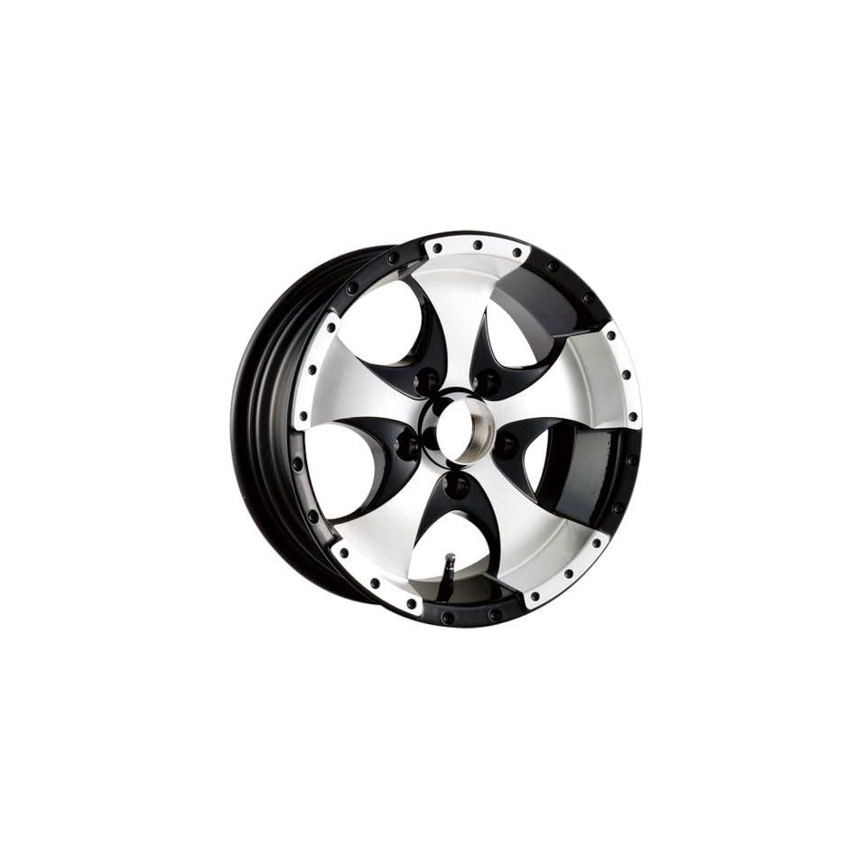14x6 Trailer Style 136 (Black w/ Machined Face & Lip) Wheels/Rims 5x114.3 (136 4665B)
