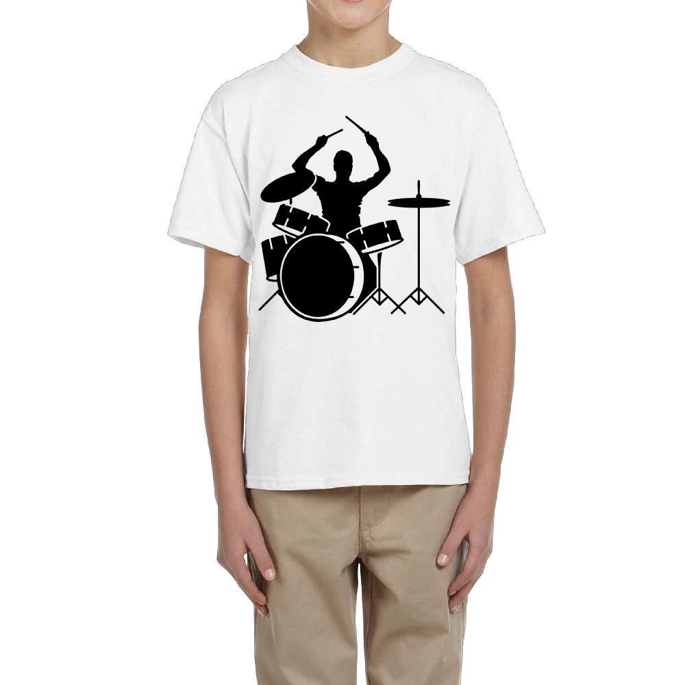 Fzjy Wnx Boys Short-Sleeved Tee Crew Drumms /& Drummer