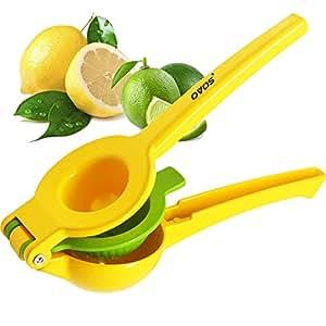 OVOS Lime Manual Squeezer Enameled Aluminum Double Bowl Lemon Squeezer