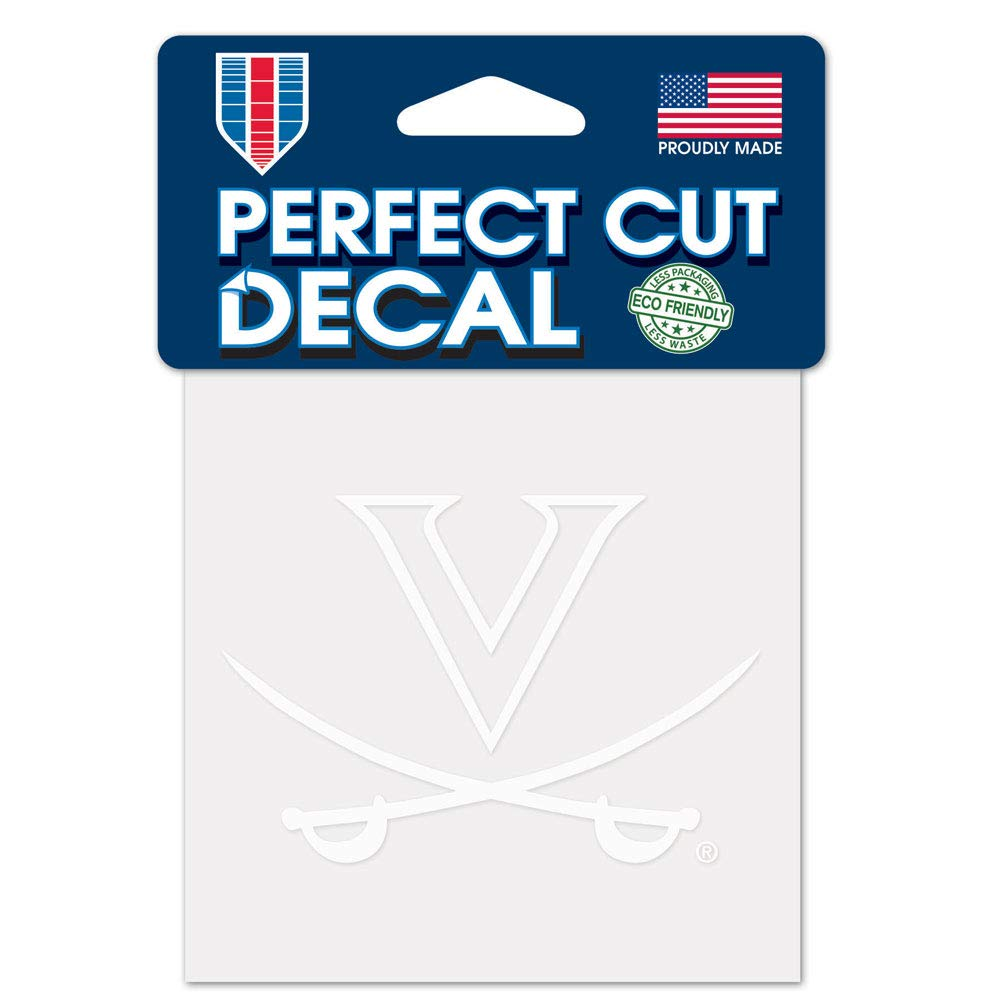 WinCraft NCAA Unisex-Adult 4x4 Perfect Cut White Decal