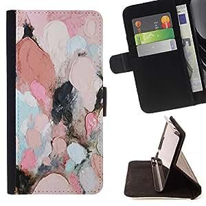 Momo Phone Case / Flip Funda de Cuero Case Cover - Pintura al óleo femenina rosada abstracta del trullo - MOTOROLA MOTO X PLAY XT1562