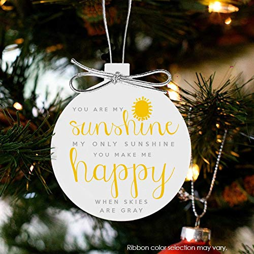 (Amy020Carllyle Christmas Ornament You are My Sunshine My only Sunshine Front Ornament SSCO)