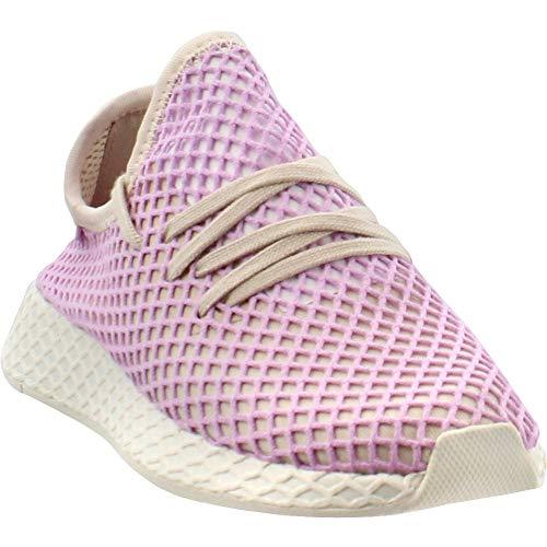 (adidas Originals Deerupt Runner Shoe - Women's Casual 8.5 Linen/Clear Lilac)