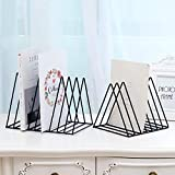 Value-5-Star - Nordic triangle simple wrought iron desktop storage rack shelf file magazine Bookend office rack Stationery Organizer Holder