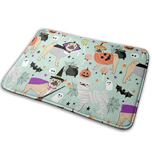 shirt home Pug Halloween Costume - Cute Dogs in Costumes - Mint_24620 Doormat Entrance Mat Floor Mat Rug Indoor/Outdoor/Front Door/Bathroom Mats Rubber Non Slip 23.6