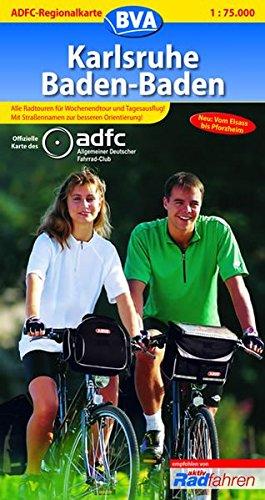 ADFC-Regionalkarte Karlsruhe Baden-Baden mit Tagestouren-Vorschlägen, 1:75.000: Vom Elsass bis Pforzheim (ADFC-Regionalkarte 1:75000)