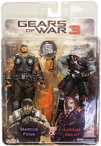 amazon com neca gears of war 3 exclusive action figure 2pack marcus