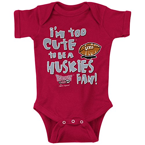 Smack Apparel Washington State Football Fans. Too Cute Onesie (NB-18M) or Toddler Tee (2T-4T) (18 Month)