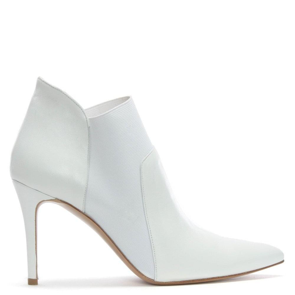 DANIEL Afede weißem Leder Wies Zehe die Chelsea-Stiefel