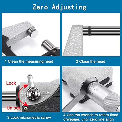 Rziioo 0-25mm Digital Outside Micrometers 0.001mm LCD Electronic Micrometer Thickness Micrometro Gauge Measuring Toosl