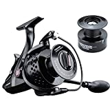 FYSHFLYER TB18FR Spinning Reel-10+1 Bearings;Al CNC Machined Handle/Carbon Fiber Drag; Aluminum Hollow Spool+ FREE Spare Plastic Spool; Smooth, Powerful Bait Feeder Carp Fishing Reel Review