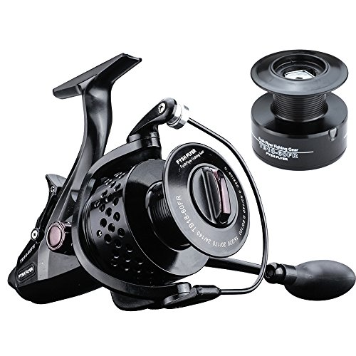 FYSHFLYER TB18FR Spinning Reel-10+1 Bearings ;Al CNC Machined Handle / Carbon Fiber Drag; Aluminum Hollow Spool+ FREE Spare Plastic Spool; Smooth, Powerful Bait Feeder Carp Fishing Reel