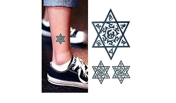 Oottati Tatuajes Temporales Estrella David Tobillo Totem (Juego De ...