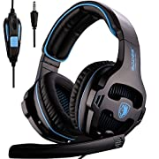 Amazon #LightningDeal 99% claimed: [2016 New Version Gaming Headset] SADES 810S Gaming Headset Headphones for PlayStation4 PS4 New Xbox one PC Laptop MAC with microphone