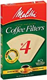 mr coffee cone filter 4 - Melitta Cone Coffee Filters, Natural Brown, No. 4, 40-Count Filters