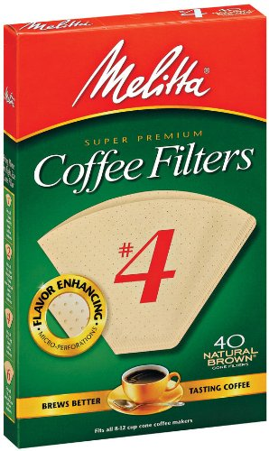 Melitta Cone Coffee Filters, Natural Brown, No. 4, 40-Count - Housewives 40 Over